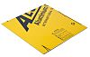 Yellow Aluminium Sheet, 600mm Long, 3.5kg/m2, 600mm x 3mm