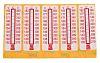 RS PRO, Temperaturfølsom etiket med 10 Niveauer, Vertikal