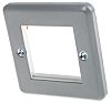 MK Electric White 1 Gang Face Plate Metal