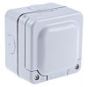 MK Electric Grey Plastic Back Box, 2 Gangs,