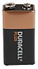 Duracell Plus Power Duracell Alkaline 9V Batteries PP3