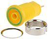 Hirschmann Test & Measurement Green/Yellow Female Banana Plug