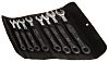 Wera 8 Piece Chrome Molybdenum Steel Spanner Set