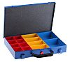 RS PRO 14 Cell Blue Steel Compartment Box,
