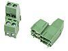 Regletas de terminales PCB Hembra de 4 vías, Recta, paso: 5.08mm, 16A, de color Verde, montaje Orificio Pasante,
