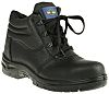 RS PRO Black Steel Toe Capped Mens Safety Boots, UK 7, EU 41