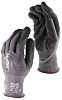 Ansell Hyflex, Black Nitrile Coated Work Gloves, Size 9
