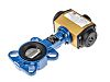 RS PRO Pneumatic Actuated Butterfly Valve EPDM Liner,
