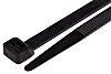 RS PRO Black Cable Tie Nylon Flame Retardant,