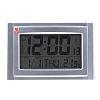RS PRO Radio Controlled Silver Digital Wall Clock