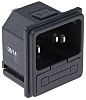 RS PRO C14 Snap-In IEC Connector Male, 10.0A,
