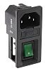 RS PRO C14 Snap-In IEC Connector Male, 6.0A,