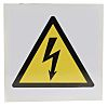 RS PRO Electricity Danger Label, Black/Yellow/White Self-Adhesive