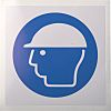 RS PRO Vinyl Mandatory Head Protection Sign With