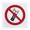 Vinyl No Mobiles Prohibition Sign, None