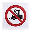 Vinyl No Fork Lift Trucks Prohibition Sign, None