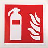 RS PRO Vinyl Fire Safety Sign, Fire Extinguisher