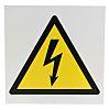 """Panneau de danger, avec pictogramme : Danger Electricité """" """""""