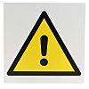 RS PRO Gefahren-Warnschild Kunststoff , Allgemeine Gefahr Beschriftung , 200 mm x 200mm