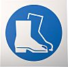 RS PRO Plastic Mandatory Foot Protection Sign With