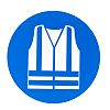 RS PRO Plastic Mandatory High Visibility Clothing Sign