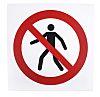 Panneau interdiction, avec pictogramme : Interdit aux piétons