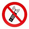 Plastic No Mobiles Prohibition Sign, None