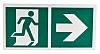 Plastic Emergency Exit Right, With Pictogram Only,
