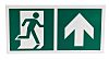 Plastic Emergency Exit Up, With Pictogram Only, Non-Illuminated