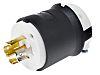 Conectores macho de alimentación, Macho, Montaje de Cable, 20A, 120/208 V NEMA L21 - 20P