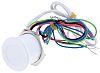 Illuminated White Wire Lead Piezo Switch, , IP68