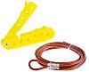 4 Lock PVC/Steel Cable Lock