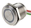Push Button Touch Switch, Momentary, NO ,Illuminated, Red,
