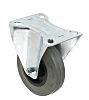 RS PRO Fixed Castor Wheel, 70kg Load Capacity,