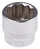 RS PRO 23mm Bi-Hex Socket With 3/8 in