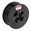 RS PRO 1.75mm Black PLA 3D Printer Filament, 1kg