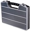 RS PRO 9 Cell Black PP Compartment Box,