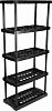 RS PRO Black 5 Shelf PP Shelving Unit,