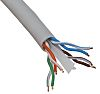 RS PRO Grey Cat6 Cable UTP LSZH, PVC