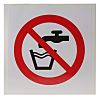 Vinyl Not Drinking Water Prohibition Sign, None