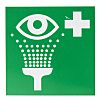 RS PRO Vinyl Green/White Eyewash Station Label, 100