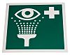 RS PRO Plastic Green/White Eyewash Station Sign, 200