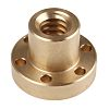 Přírubová matice kruhová Přírubový kulatý, velikost olova: 4mm 18mm 48mm, celková délka: 35mm RS PRO