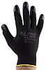 RS PRO, Black Nitrile Coated Work Gloves, Size 10