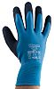 RS PRO, Black Latex Coated Work Gloves, Size