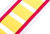RS PRO Kábeljelölő, rögzítés módja:Hőzsugorítás, mennyiség: 250, szélesség: 19,0 mm, Sárga