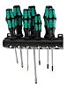 Wera Standard Cross, Phillips-Recess, Pozidriv, Slotted, Torx