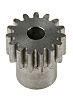 RS PRO Steel 15 Teeth Spur Gear, 0.8