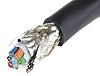 Alpha Wire 6 Core Screened Industrial Cable, 0.23 mm² (CE, CSA, UL) Black 30m Reel