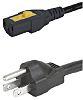 Schurter Power Cable, C13, IEC to NEMA 5-15,